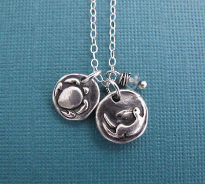 silver tortoise hare necklace hint jewelry