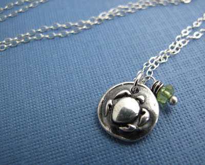 silver turtle terrapin station charm necklace