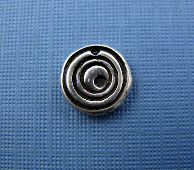 silver modern spiral charm jewelry
