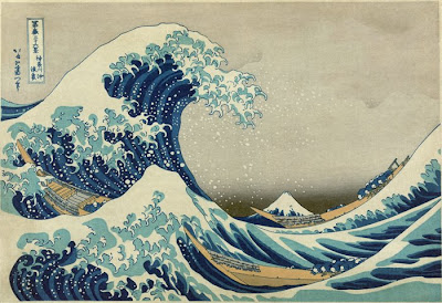 great wave off kanagawa woodblock print