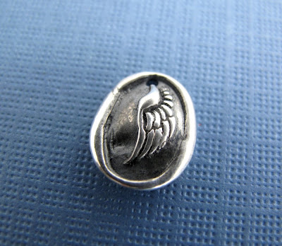 silver angel wing charm hint jewelry