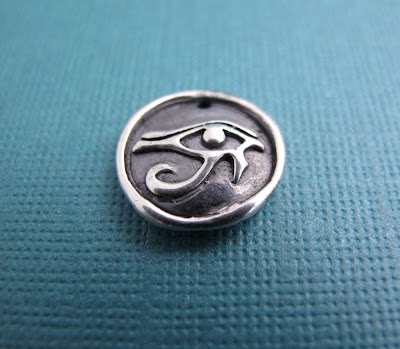 silver eye of horus protection charm hint jewelry