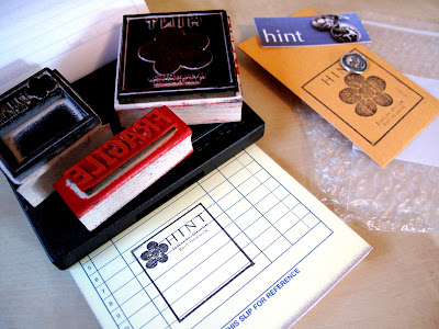 branding business with rubber stamps