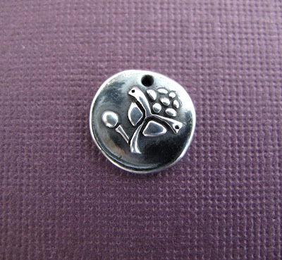silver pine cone charm hint jewelry
