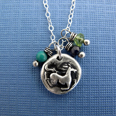 silver wild horse charm necklace jewelry
