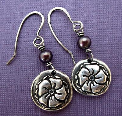 moonflower flower earrings okeeffe jewelry charm