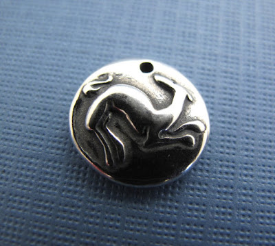 greyhound whippet dog puppy rescue silver charm jewelry