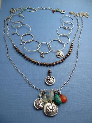 silver yoga jewelry lotus blossom tree life