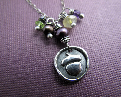 silver acorn charm necklace jewelry