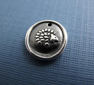 silver hedgehog porcupine charm jewelry bracelet