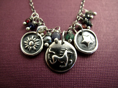 silver horse charm secretariat jewelry necklace