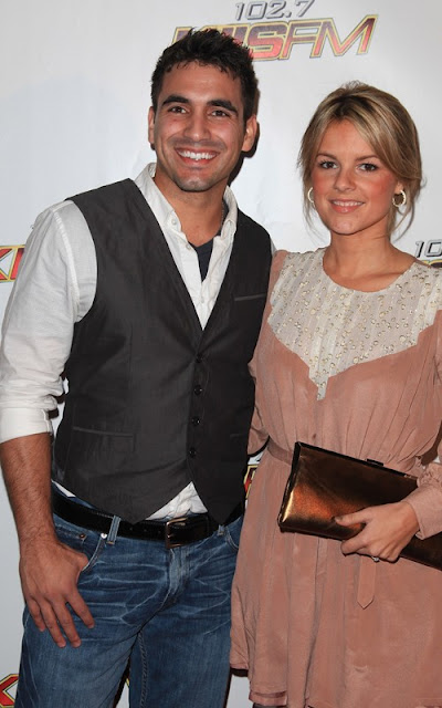 Ali Fedotowsky and Roberto Martinez at the Jingle Ball and the Zappos Rock 'N' Roll Las Vegas Marathon