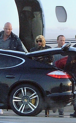 Lady Gaga arriving in Poland
