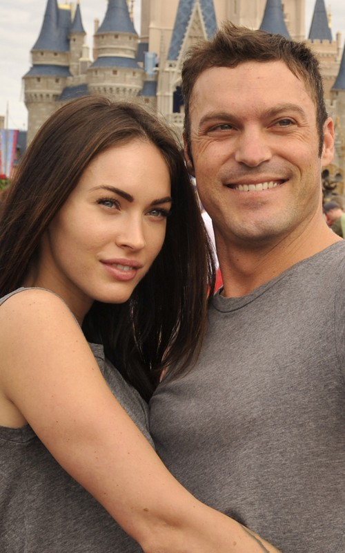 Megan Fox and Brian Austin Green at Magic Kingdom