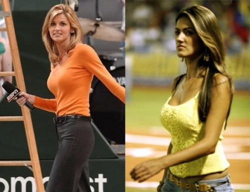 Sexy looks of female reporters & sports journalists pictures