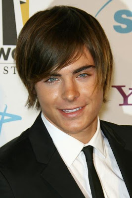 ZAC EFRON LAYERED HAIRSTYLE