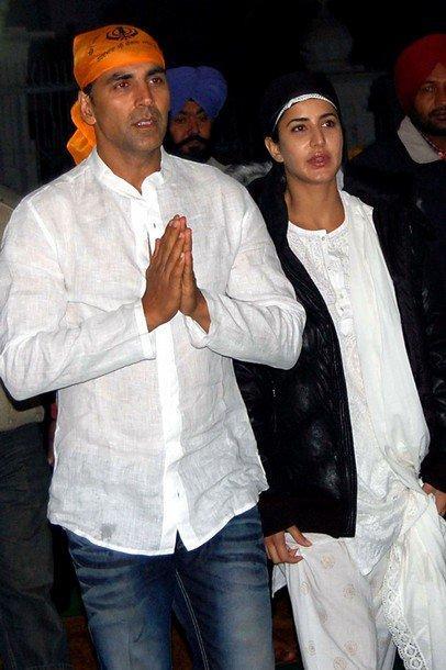 Akshay Kumar & Katrina Kaif in Amritsar Pics