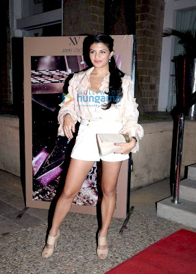 Jacqueline Fernandez and Mandira Bedi at Jimmy Choo Bash