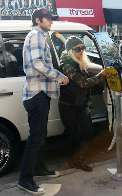 Christina Aguilera out for lunch at the Ivy Restaurant in West Hollywood