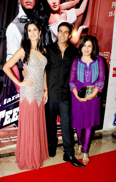 Akshay, Kat & Tees Maar Khan for Charity Screening