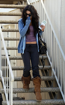 Vanessa Hudgens out at Ricki Criswell skin care and waxing studio