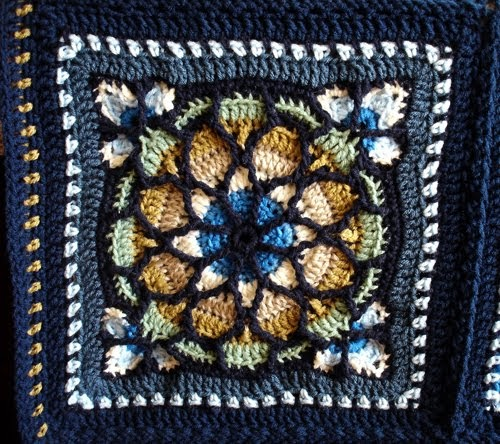 Lace And Lupins Stained Glass Window Afghan By Melody