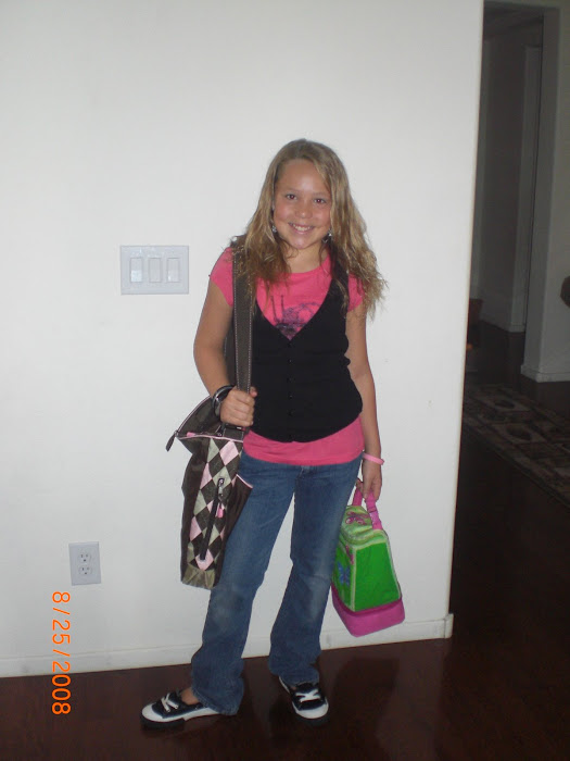 Lindzie's 1st Day of 5th Grade