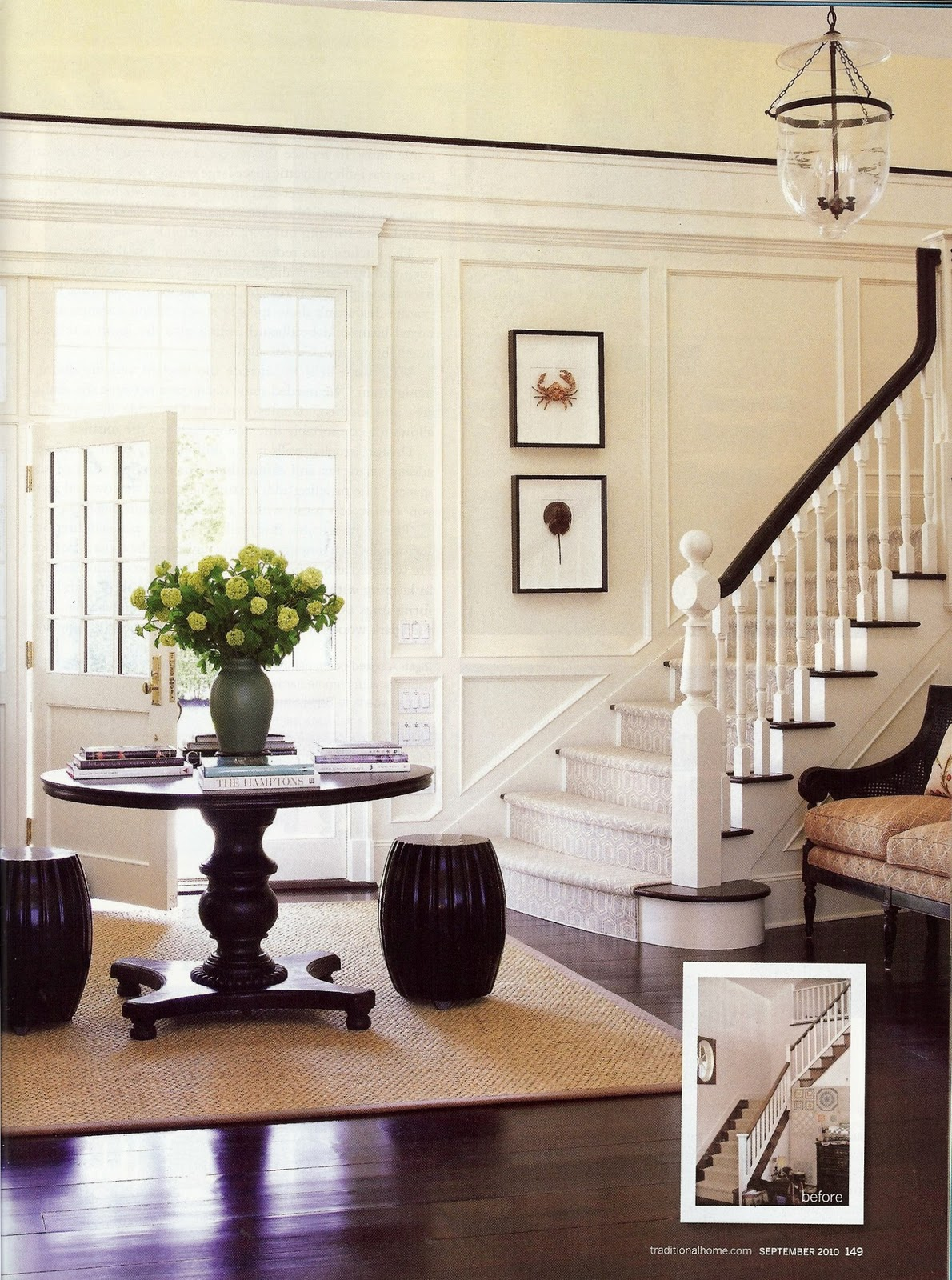 Foyer Table With Stools : Circa new stools