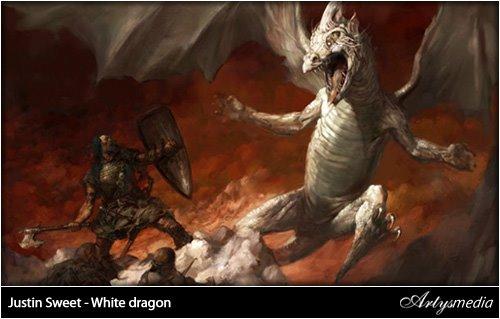 Justin Sweet - White dragon