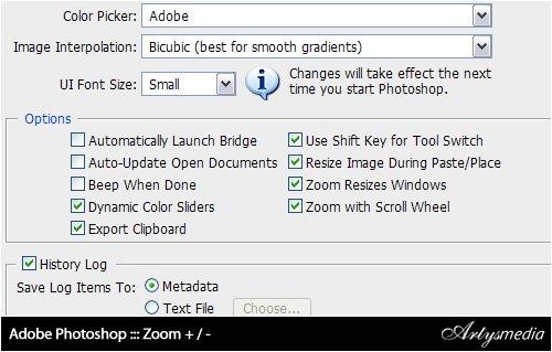 Adobe Photoshop ::: Zoom + / -