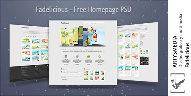Fadelicious – Free Homepage PSD