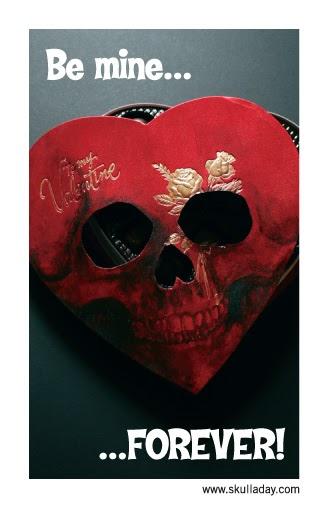 FREE Skull A Day DIY Valentines