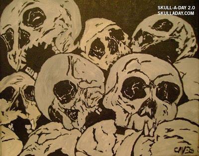 skull pile. Black Bedroom Furniture Sets. Home Design Ideas