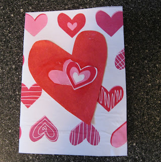 valentine cards: tissue paper card tutorial