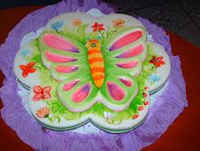 alegre mariposa de gelatina