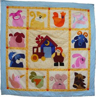 Baby Quilt Patterns Nz : espatchwork.net: Quilt infantil granja