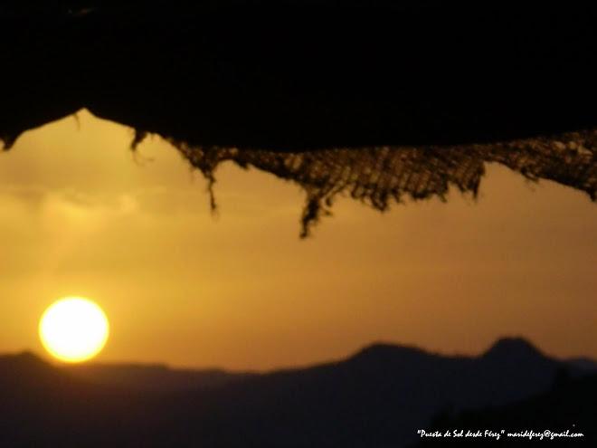 Puesta de Sol desde Férez