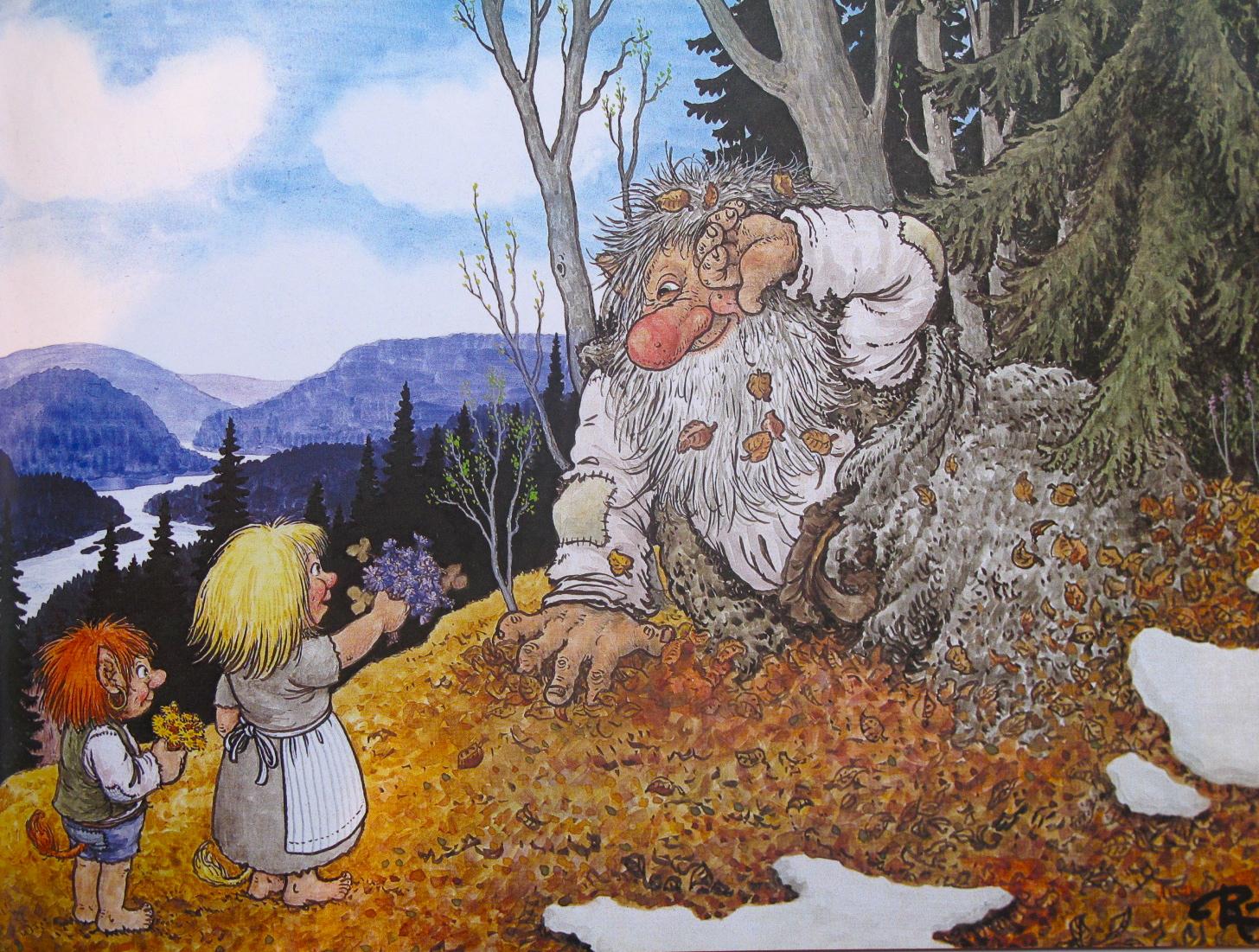 Emma Hill  Troll Illustrations By Rolf Lidberg