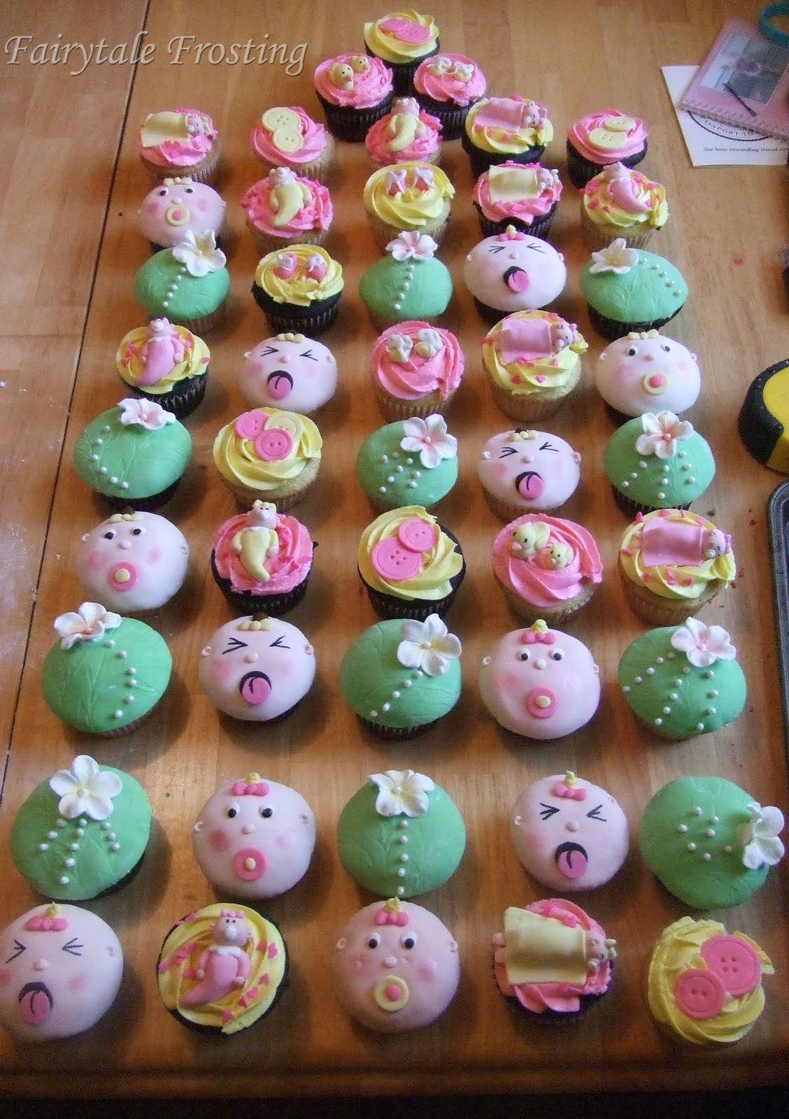 Baby Shower Cupcakes Ideas Pictures ~ Fairytale frosting flowery girlie baby shower cupcakes