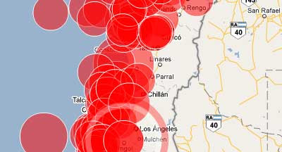 Maps Mania Maps Of The Chile Earthquake Updated