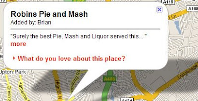 screenshot of Big British Food Map
