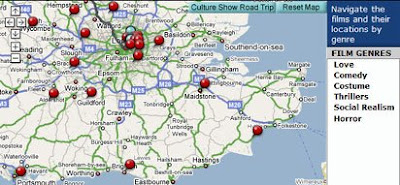screen shot of British Film Map