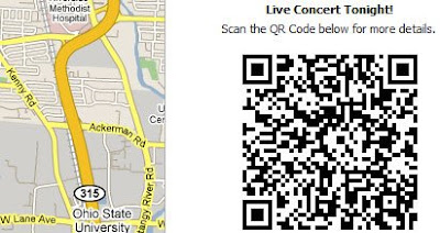 screen shot of QR Code Mapplet
