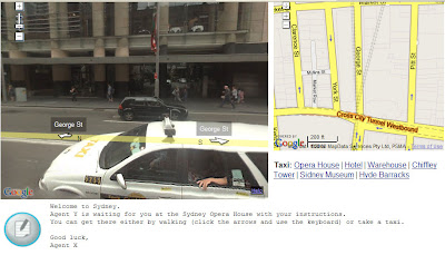 screen shot of street view game