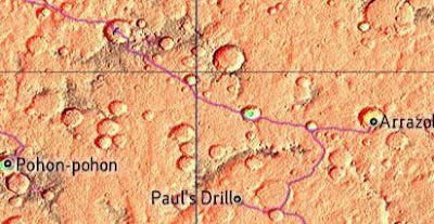 map of mars