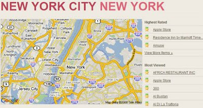 TownRenowned map of New York