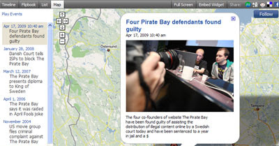 The Guilty Pirate Bay Map