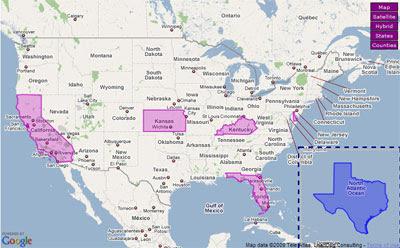 Maps Mania Friday Fun On Google Maps - United states google map