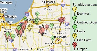 Maps Mania: Watch Where You Spray Google Map