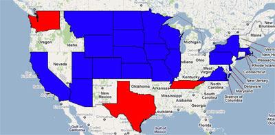 Us State Zip Code Map Globalinterco - Us zip code boundroes google maps
